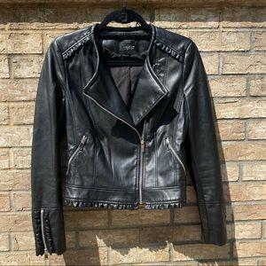 Black Zara Faux Leather Jacket